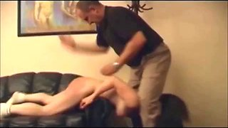 Czech Angry Dad punished his naughty daughter