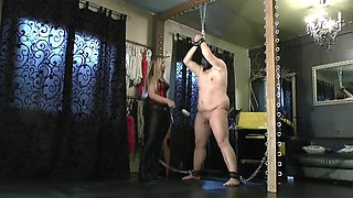 Ballbusting with Blonde Mistress