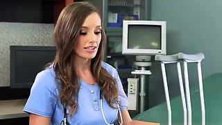 Nurse Ripped Pantyhose