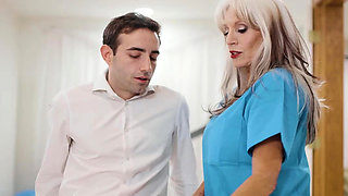 80 years old nurse Sally D'Angelo fucked by her patient