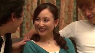 Japanese boss's wife fuck by stuff