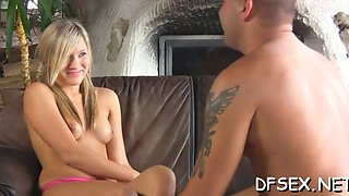 Defloration ends with orgasms