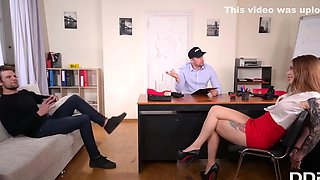 Beauty After The Office Went To The Gym To Arrange Double Penetration with Misha Maver and Kristof Cale