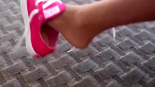 cheerleader pantyhose footjob