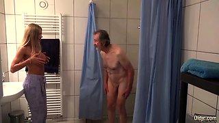 Cum shower with my grandpa