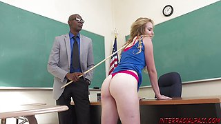 Horny Mr. Michaels Teaches Britney a Lesson in Disobedience