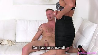 Lucky guy with a long cock enjoys while Celine Noiret rides him