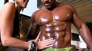 Slut loves this muscular black stud