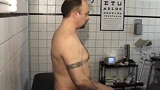 Lucky guy has two attractive babes massaging his prostate