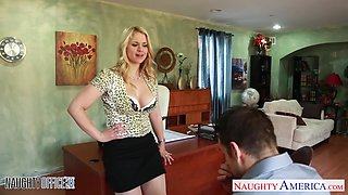 Strict female boss Sarah Vandella is fucked by handsome employee Johnny Castle