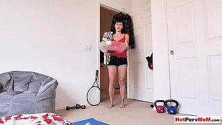 Kinky MILF stepmother wakes up stepson with blowjob