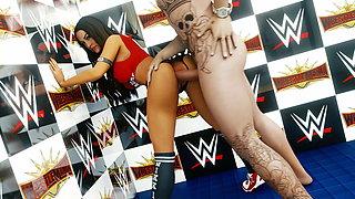 3D Animated Nikki Bella WWE DIVAS WRESTLING