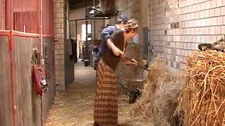 Der Bauer und die blowjob Städter. doggy style vintage