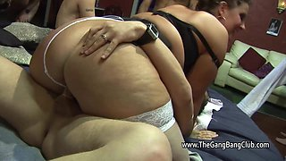 Swingers at a sex club with a big beautiful woman