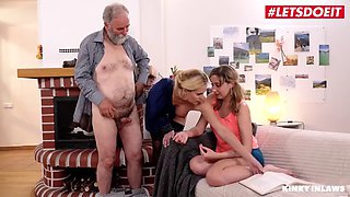 Letsdoeit taboo ffm with milf mom and teen daughter sparta