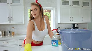 Lena Paul feeds her unshaved pussy with stranger's long penis