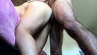 Latina whore girl bends over for daddy