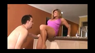 Femdom making cuckold get her ready for bbc