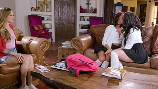 Threesome lesbian video featuring Karla Kush and her hot girlfriends
