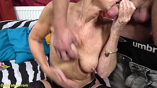 skinny 75 years old mom loves toyboy