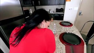 Sexy Big Ass MILF Stepmom Fucked While Playing Bottle Flippin