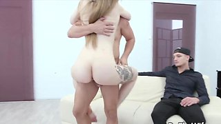 Swinger wives enjoy taking hard dicks in their asshole and getting fucked in front off husby