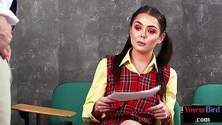 British voyeur student watching teacher
