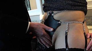 Teen submissive in fetish lingerie