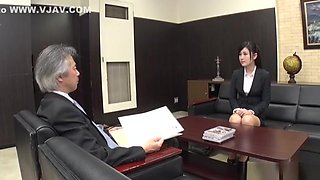 Seino Iroha bonked by her boss on the couch