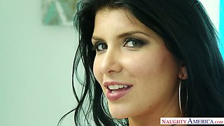 Alluring brunet milf Romi Rain is pleasing her black lover like nobody else before