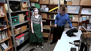 Pale emo teen shoplifter punish fucked by a LP officer