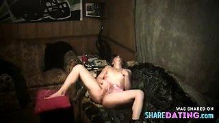 Stepsister caught masterbating on hidden cam