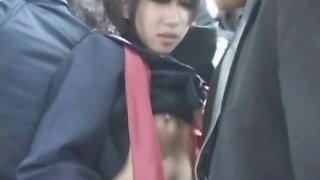 Asian Schoolgirl Fingered in Public!