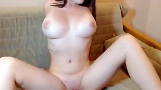 Perfect girl with big tits teases and plays with toys on webcam