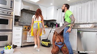 Ms London - Cleaning House With Ms Londons Huge Tits