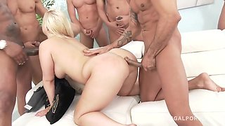 Chris Diamond, Franco Roccaforte And Lilith Lee In Thick Curvy Blonde Bombshell Bambi In The Biggest Gangbang