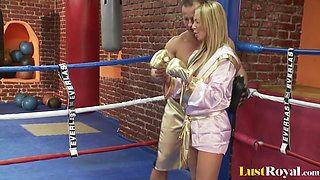Busty Francesca Felluci learns about fighting and fucking