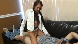 Daddy forced to fuck daughter