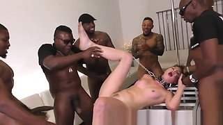 Caged babe plowed by bbcs