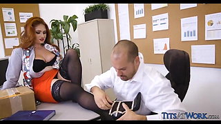 Big Tits and Stockings at the Office