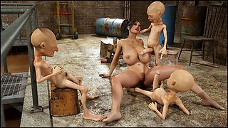 3D Lara Croft Ruined by Creatures!