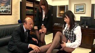 Hottest Japanese girl Misa Yuuki, Sae Aihara, Megumi Shino in Crazy Blowjob/Fera, Fingering JAV scene