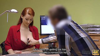 LOAN4K. Vet doctor with giant hooters sucks and fucks for money