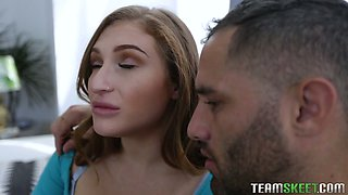 Super curvaceous beauty Skylar Snow is woken up for steamy sex