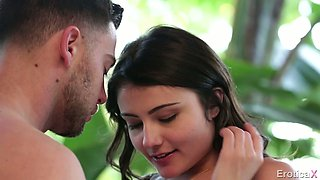 Delightful brunette chick Adria Rae gets nailed by her eager buddy
