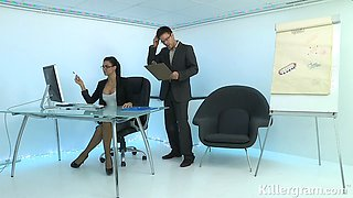 Killergram Hot Milf secretary Jasmine Jae gets fucked in the office
