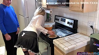 Erin Electra and Matthias Christ - The Maid Takes A Hard Cock In The Kitchen