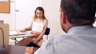 Alli Addison In Cute Skinny Wench Gets Fucked On The Table