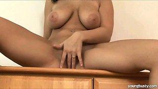 Stripping before masturbating