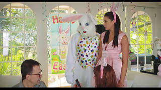 Hot Teen Fucked By Easter Bunny Uncle